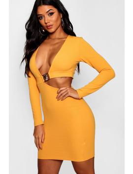 Cut Out Detail Bodycon Dress by Boohoo