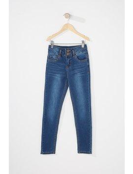 Girls 2 Tier Skinny Jean by Urban Planet