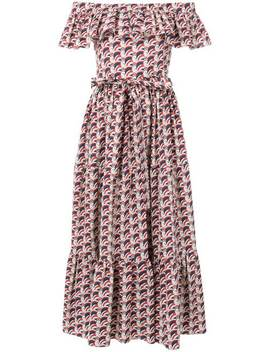 La Doublejoff Shoulder Print Dresshome Women La Doublej Clothing Day Dresses by La Doublej