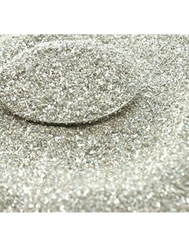 Silver Imported German Glass Glitter   1 Ounce Jar   Fine 90 Grit (Most Popular Grain Size) Sparkly Glass Glitter   311 9 Sl by Meyer Imports