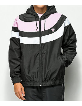 Odd Future Arc Stripe Black, Pink & White Windbreaker Jacket by Odd Future
