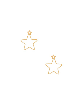 Open Star Jacket Earrings by Shashi