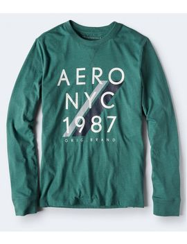 Long Sleeve Aero Nyc 1887 Logo Graphic Tee by Aeropostale