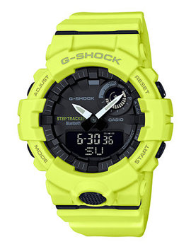 Men's Analog Digital Step Tracker Yellow Resin Strap Watch 48.6mm by G Shock
