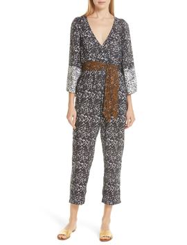 Meru Belted Jumpsuit by Apiece Apart