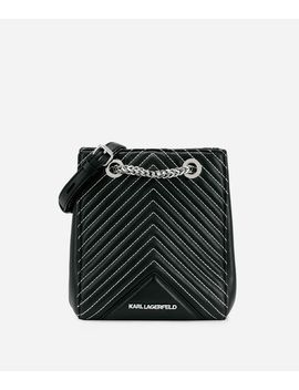 K/Klassik Quilted Leather Bucket Bag by Karl Legerfeld