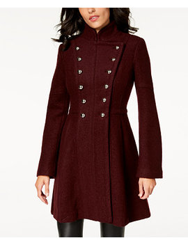 Double Breasted Skirted Coat by Guess
