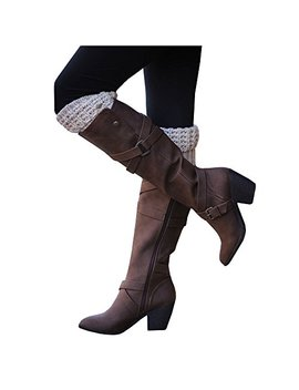 Ivay Women's Fashion Knee High Casual Riding Boot Side Zip High Heel Shoes by Ivay
