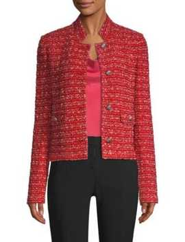 Inlay Boucle Stripe Tweed Jacket by St. John