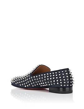 Rollerboy Spikes Flat Denim Venetian Loafers by Christian Louboutin