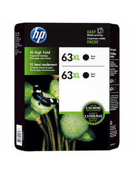 Hp 63 Xl Black Ink Cartridge (Lor43 Bn)   2 Pack by Hp