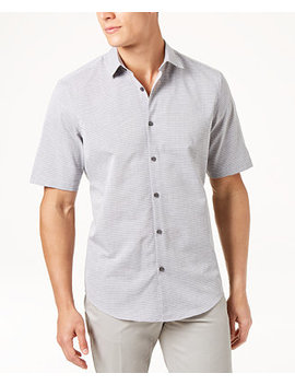 Men's Ottoman Textured Shirt, Created For Macy's by Alfani