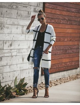 William Striped Pocketed Cardigan by Vici