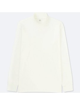 Men Soft Touch Mock Neck Long Sleeve T by Uniqlo