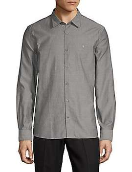 Polka Dot Cotton Button Down Shirt by John Varvatos Star U.S.A.