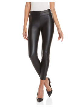 Black Chip Faux Leather Leggings by Rebecca Minkoff