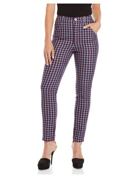 Tartan High Waisted Pants by Sonia By Sonia Rykiel