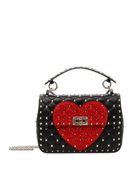 Spike.It Medium Quilted Heart Shoulder Bag by Valentino Garavani