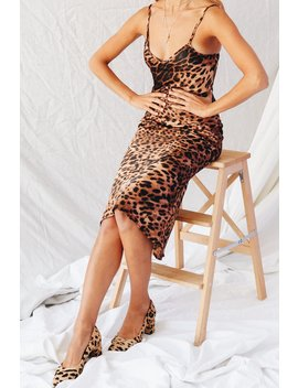 Cosmos Slip Midi Dress // Leopard by Vergegirl