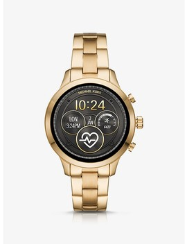 Runway Gold Tone Smartwatch by Michael Kors Access