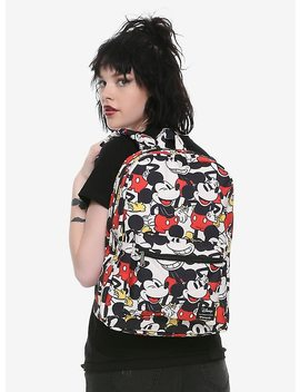 loungefly-disney-mickey-mouse-print-backpack by hot-topic