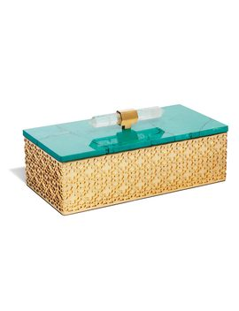 Rectangular Filigree Box In Variegated Teal Magnesite by Kendra Scott