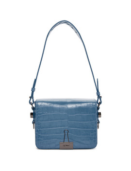 Blue Croc Coco Flap Bag by Off White