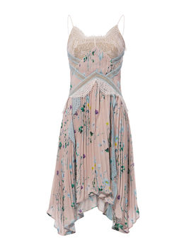 Floral Handkerchief Mini Dress by Self Portrait