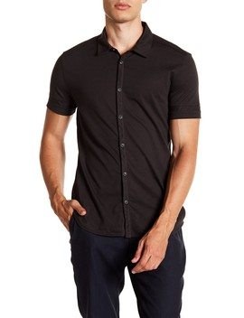 Solid Short Sleeve Slim Fit Shirt by John Varvatos Collection
