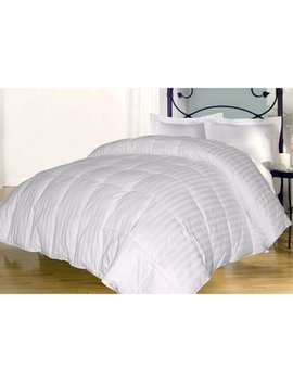 350 Damask Stripe Down Alternative Comforter by Blue Ridge