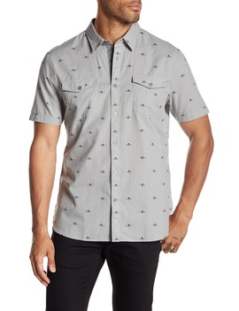 Short Sleeve Print Extra Slim Fit Sport Shirt by John Varvatos Star Usa
