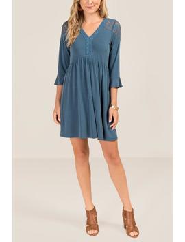 Mckenna Lace Shoulder Shift Dress by Francesca's