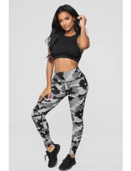 Top Ranked Active Leggings   Grey Camo by Fashion Nova