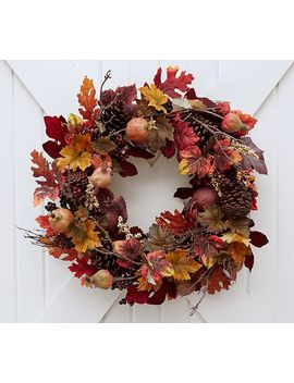 Faux Pomegranate & Pinecone Wreath by Pottery Barn