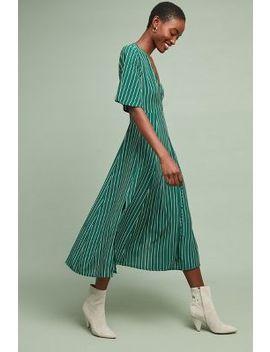 Faithfull Paseo Striped Wrap Dress by Faithfull