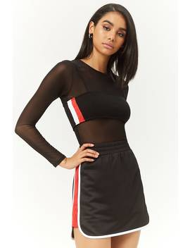 Contrast Trim Mini Skirt by Forever 21