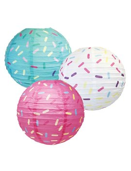 Just Artifacts 12inch Hanging Paper Lanterns (Sprinkles Pattern, 3pcs) by Just Artifacts
