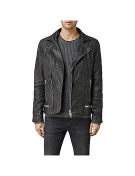 All Saints Conroy Leather Biker Jacket, Ink by All Saints