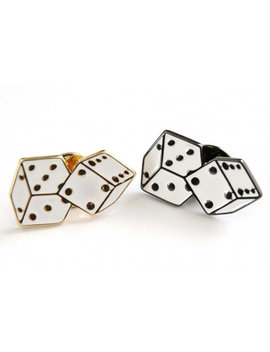 Dice Cute Enamel Pin   Fashion Badge Gold/Black by Miraclepatch