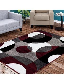 Ebern Designs Allison Burgundy Area Rug & Reviews by Ebern Designs