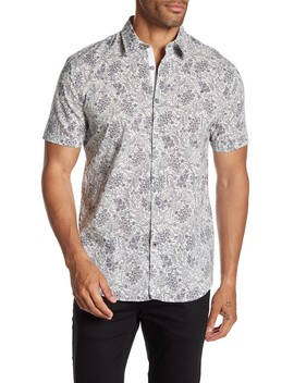 Cuff Short Sleeve Print Shirt by John Varvatos Star Usa