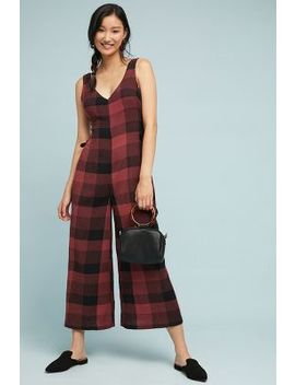 Checked Wide Leg Jumpsuit by Ett:Twa