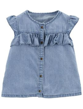 Ruffle Chambray Top by Carter's