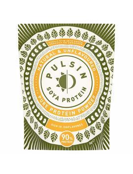 Pulsin' Unflavoured Soya Protein Powder 1kg | 90 Percents Protein| Natural | Gluten Free | Vegan by Amazon