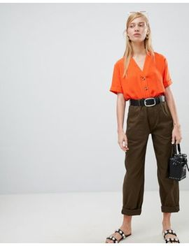 New Look   Pantaloni Multitasche Dritti by Asos
