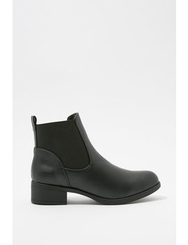 Faux Leather Pull On Chelsea Boot by Urban Planet