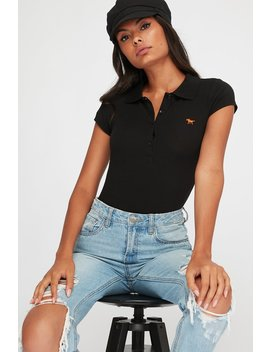 Button Up Embroidered Horse Polo Shirt by Urban Planet