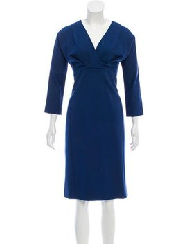 Piazza Sempione Long Sleeve Midi Dress by Piazza Sempione