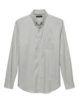Slim Fit Stretch Oxford Shirt by Banana Republic Factory