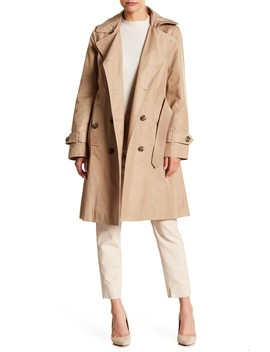 Double Tie Waist Trench Coat by London Fog